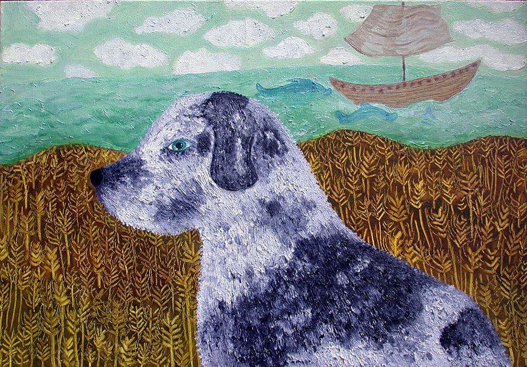 Dog in a Corn Field