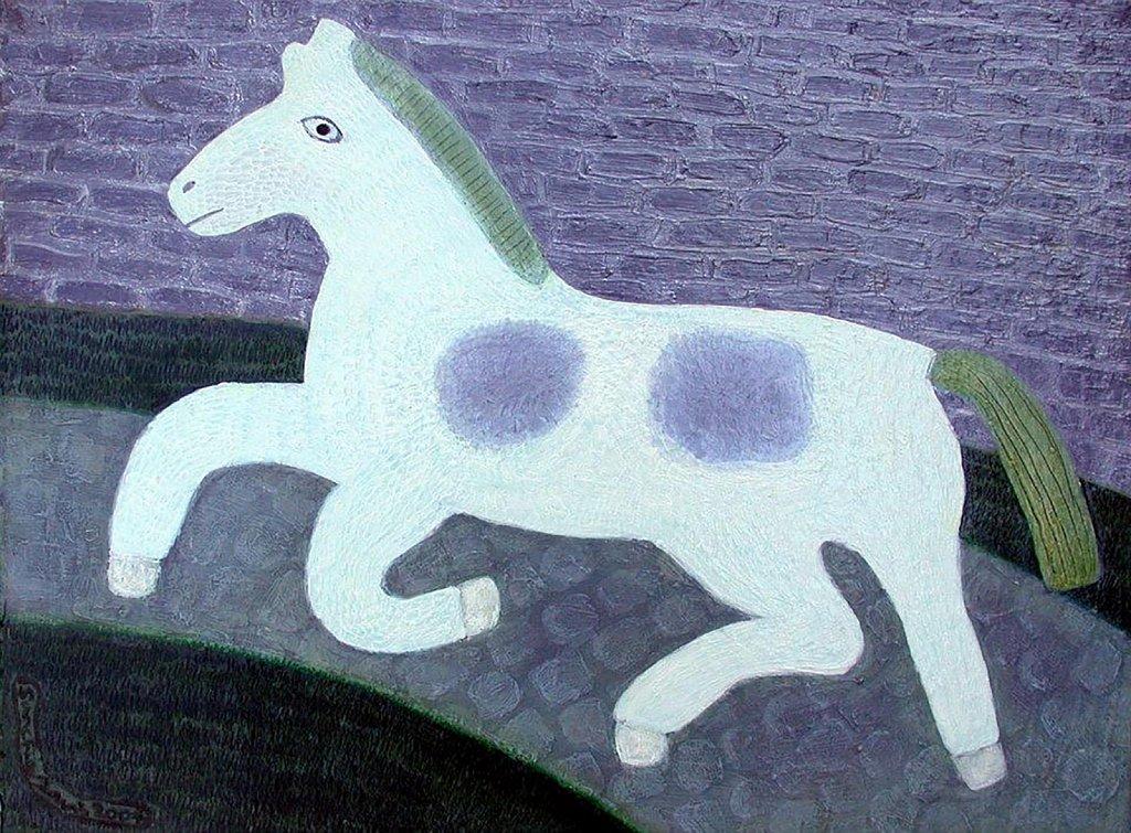 Horse on a Moonlit Path